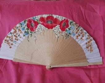 Fans, hand-painted fan