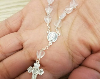 10 Clear Mini Rosary Party Favors