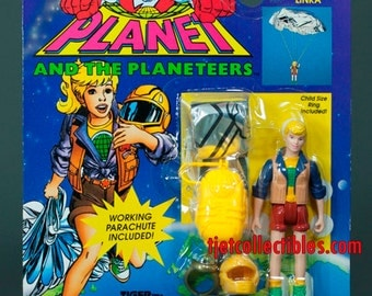 Captain Planet 1994 Series Linka Working Parachute Action Figure