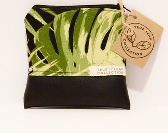 Coin Purse // Small Pouch // Leafy Print // True Leaf Collection