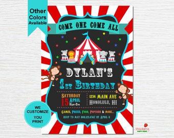 Carnival Invitation, Circus Invitation, Carnival Birthday Invitation, Carnival Themed Party, Circus Birthday, Party Printables