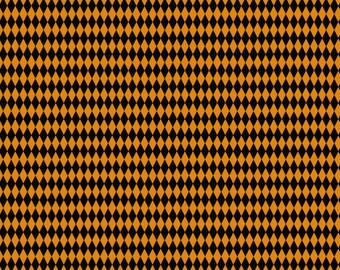 BTHY - Happy Halloween by Patrick Lose, Pattern #CP62512 Harlequin, Black and Orange Rows of Diamonds, by