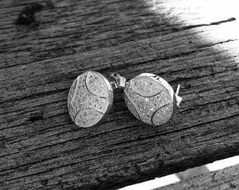 Sterling Silver Disc Studs