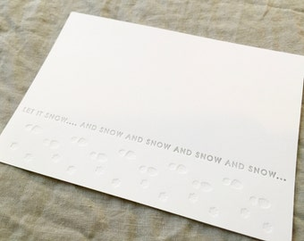 Paw Prints + Foot Prints | Letterpress | Holiday Card