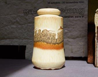 Scheurich Vintage West German Fat Lava Vase in Pale Earth Tones 549-21 - UK Seller