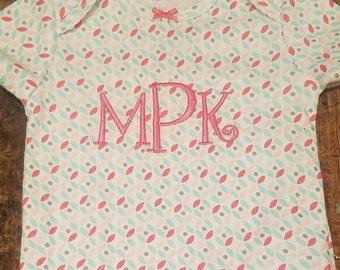 Monogrammed Onsies/ Name shirt / Birthday Shirt / onsie/ Monogramm