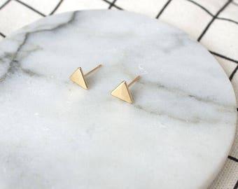 Triangle Earrings, simple clip on earrings, customize Non Pierced Earrings, Comfortable Clip on earrings