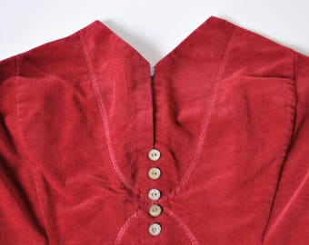 Brick Red Corset/Bustier Top with Triangle Bust Detail, Women's Size 2