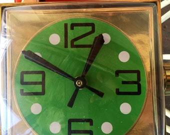 Vintage Mid Century Wrist Watch Wall Clock by Spartus