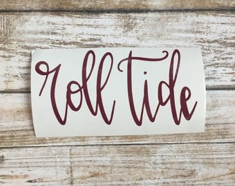 Roll Tide Sticker Roll Tide Decal Alabama Sticker Alabama Decal University of Alabama Alabama Car Sticker