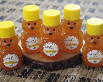 2oz. Honey Bear with 100% Pure Raw Unfiltered Honey