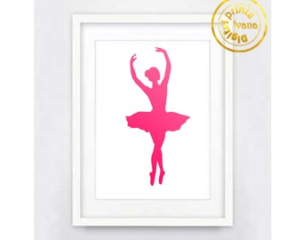 Printable art Digital Prints pink ballerina modern wall art printable art printable prints