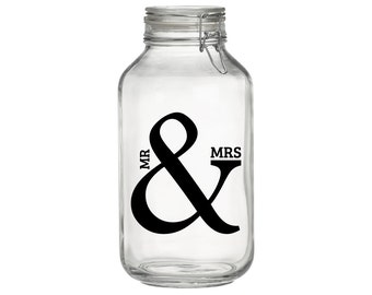 Mr and Mrs Decal, Mr & Mrs for Mason Jar Sticker, Decals for Wedding, Wall Wedding Decal, Wedding Sticker, wedding decor, DIY wedding decal
