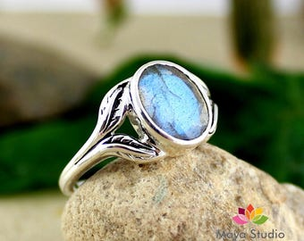 labradorite ring, gemstone ring, natural labradorite, handmade ring, gift for her, all ring size, designer ring, valentine ring, gift ring
