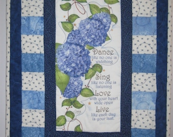Dance Like No One is Watching Quilted Wallhanging