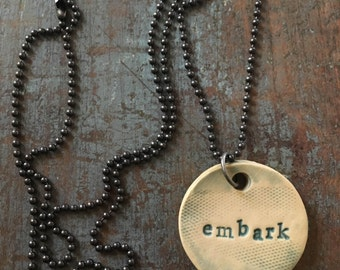 "Clay diffuser necklace ""embark"""