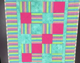 Stripes and Squares Quilt