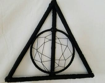 Harry Potter Deathly Hallows Inspired Dream Catcher