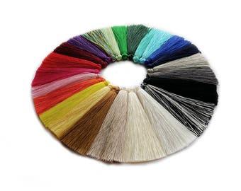 New colors - 7cm Silk Mala Tassel Charm Pair UK & EU Stock , High Quality Great for earrings, sotuars, bracelets keyrings or home decor diy
