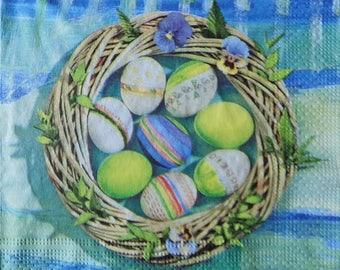 Easter paper napkins for decoupage,tissue paper napkins,Easter decorative napkins,Easter Eggs napkins