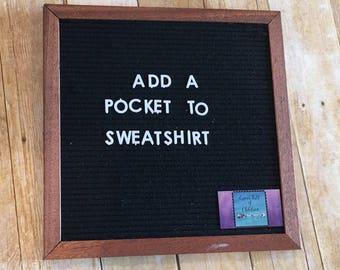 Add kangaroo pocket to any of the hoodies