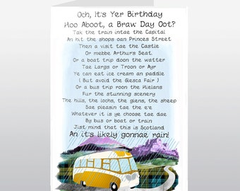 Scottish Birthday Card Braw Day Oot WWBI76