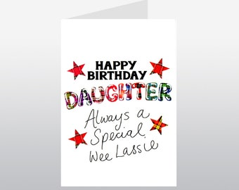 Tartan Words Daughter Birthday Card WWTW04
