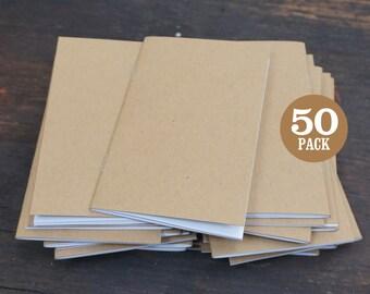 Bulk Kraft Notebooks, 3.5 x 5.5 Inch, Journals, Sketchbook, Small Kraft Journals, Pocket Size Notebook, Small Journal, Notes, Kraft Notebook