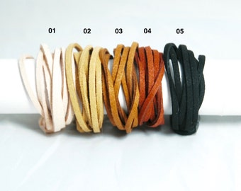Lots doeskin - 5 colors - 3mm - select your color! -Ref 1210