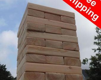 Free Shipping! Bigger Than Giant Jenga / Tumbling Towers - 57 pieces!