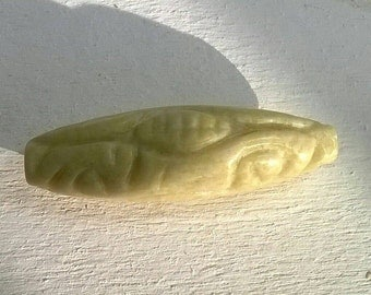 Jade bead carved