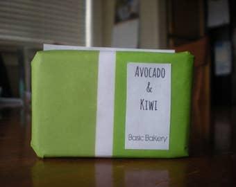 soap, avocado and kiwi, handmade soap, homemade soap
