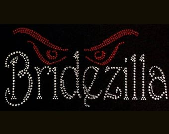 Bridezilla (4.25x8.5) Rhinestone Bling T-Shirt