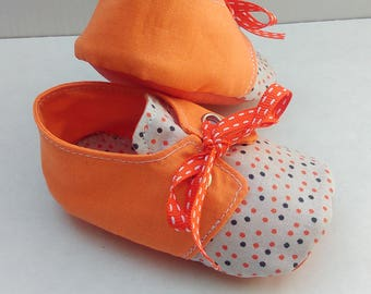 "Town shoes / basketball in cotton ""Orange peas"""