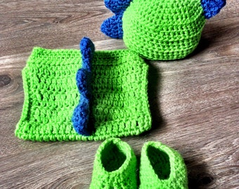 Crochet Dinosaur Baby Photo Prop Outfit, Baby Dinosaur Outfit, Crochet Photo Prop, Baby Photo Prop Outfit,