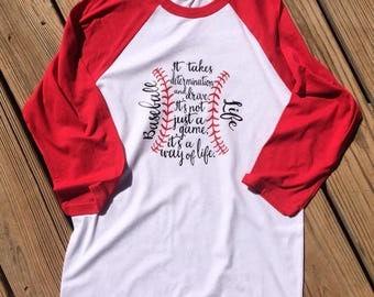 Baseball Life raglan shirt ~ Baseball shirt