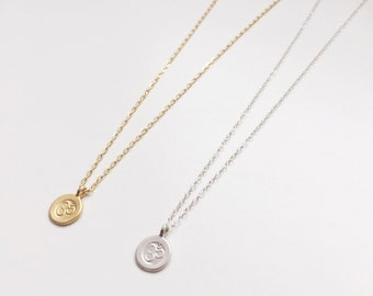 Boho ohm coin Choker | Nomad jewelry | Yoga | Bohemian Gypsy jewelery | Necklace chain gift om necklace | Gold filled sterling silver