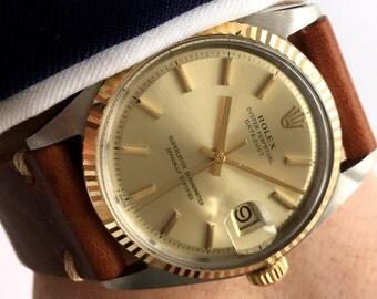 Original Rolex Datejust 1601 1603 with golden dial and golden bezel