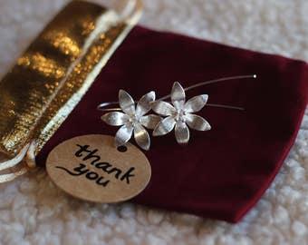 Sterling silver Lily flowers earrings