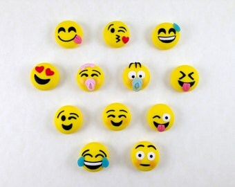 Polymer clay fimo-smile smile magnet in magnet