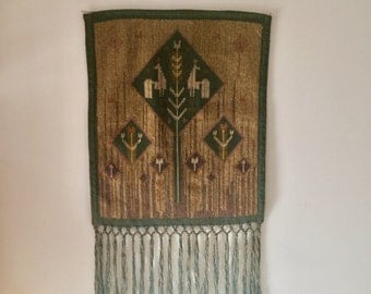 60s 70s tapestry probably Scandinavian folklore