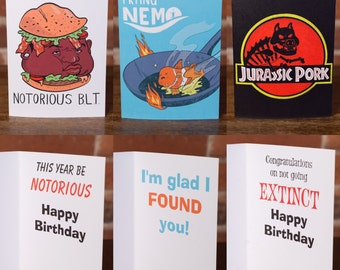 3 Cards - 9 Bucks - Any Style! Funny, Greeting, Humor, Punny, Funny, Instagram, 90s, HipHop, Laugh, Gift, Holiday, Birthday, Occasion, Movie
