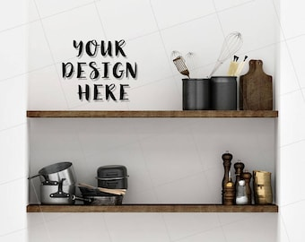 Blank Kitchen Wall kitchen wall mockup | etsy