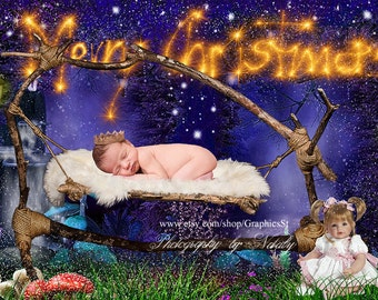 Merry christmas Newborn backdrop Newborn photography digital backdrops background
