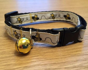 Buzzy Little Bee Cat Collar (Quick Release)