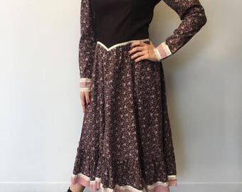 Vintage Gunne Sax  Corduroy Burgundy Dress