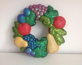 Sequin fruit wreath