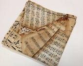 Music Note Pocket Square