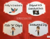 Pirate Theme Food Labels