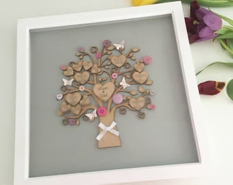 Family tree frame, gift for mum, mothers day, mum present,anniversary gift, personalised gift, mothers day gift, birthday gift, family tree